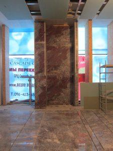 Изготовление и монтаж мрамора на стены