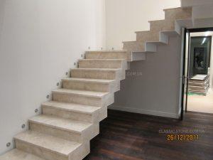 Мраморная лестница - процесс строительства